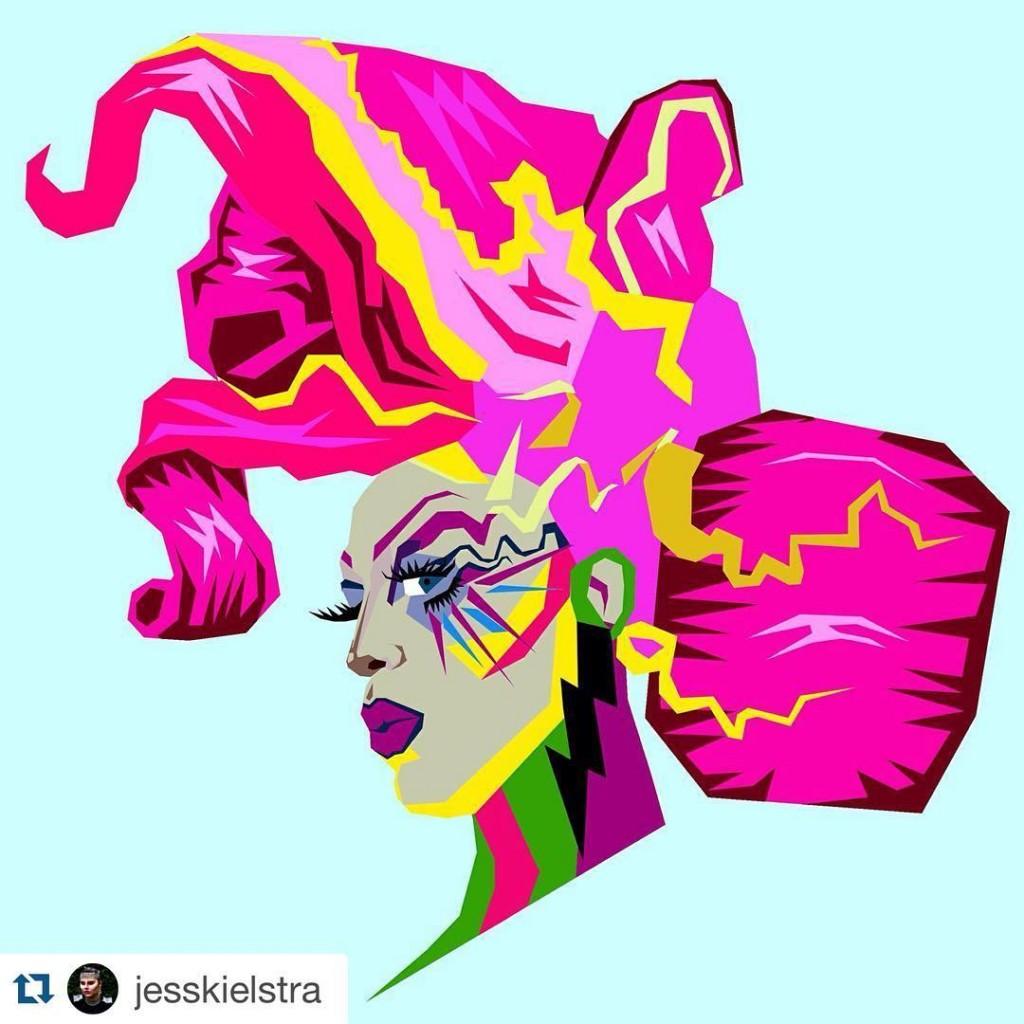 jesskielstra made art Boom boom party starter! TeamAcid DragRace NeOnMehellip